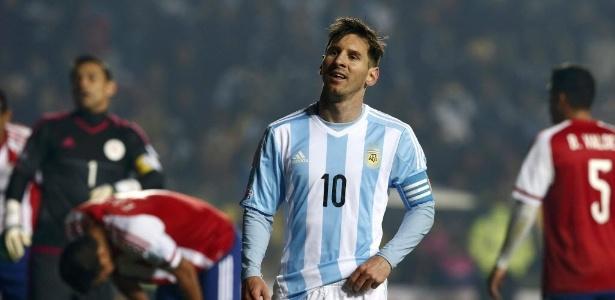 Messi nunca conquistou um título expressivo pela Argentina