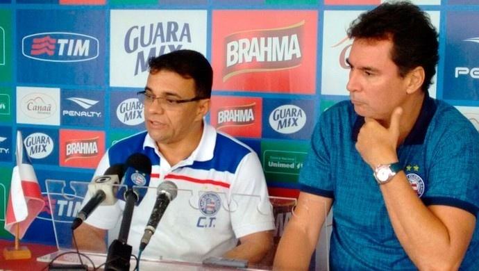Lulinha Tavares dá entrevista em chegada ao bahia, clube pelo qual tem contrato assinado