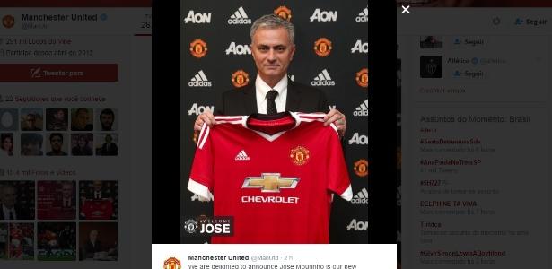 Mourinho é o novo treinador do United