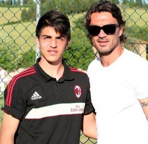 Christian Maldini, filho de Paolo Maldini