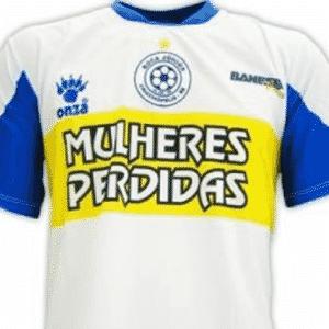 Rival do River, o Boca Junior de Sergipe também tem uma banda como patrocinador (quem não conhece pode ficar meio perdido) - Reprodução/Só Futebol Brasil