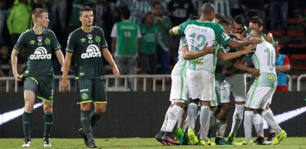 Chapecoense não conseguiu segurar o Atlético Nacional