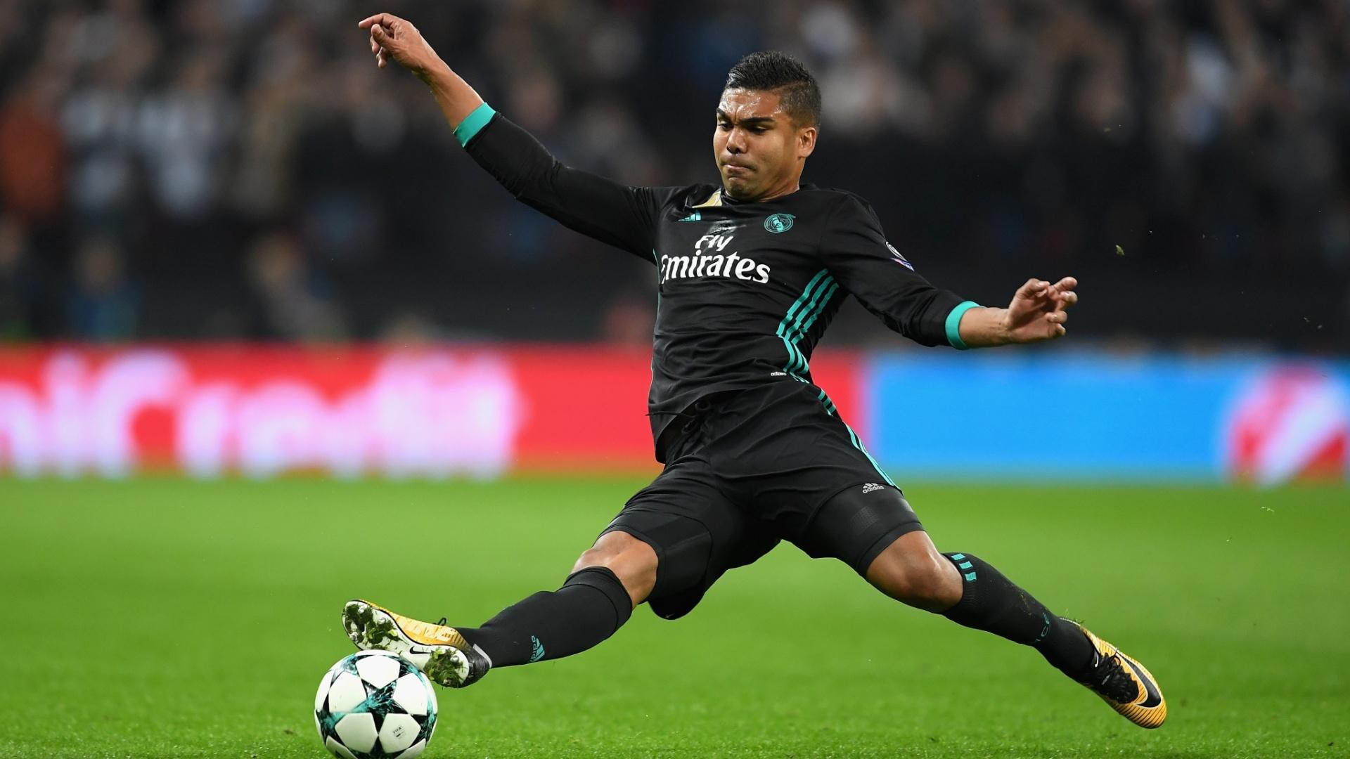 Casemiro durante derrota do Real Madrid para o Tottenham na Liga dos Campeões
