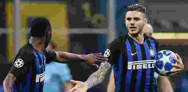 Icardi empatou para a Inter no fim - Marco BERTORELLO / AFP