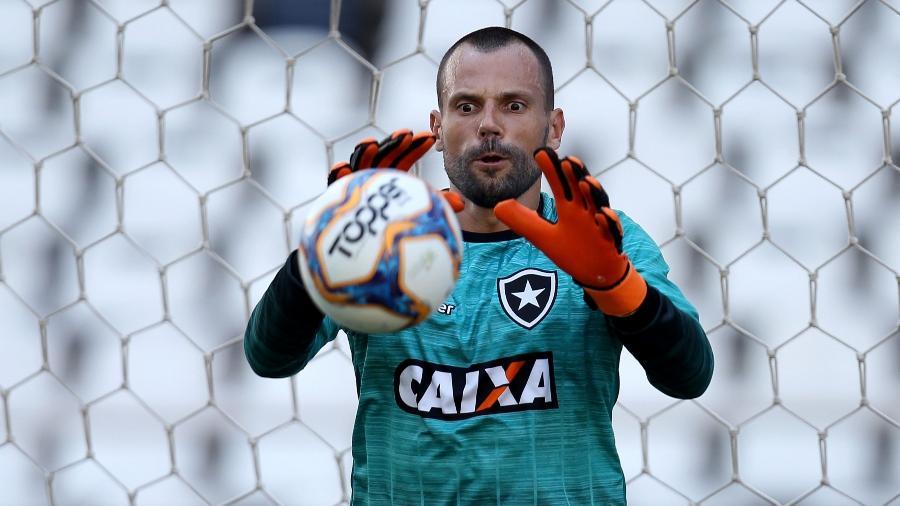 O goleiro Diego Cavalieri voltou a atuar após longo período longe dos gramados - Vitor Silva/SSPress/Botafogo