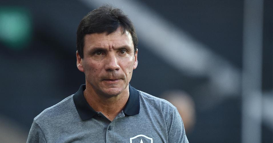 Zé Ricardo, técnico do Botafogo, durante jogo contra o Bangu
