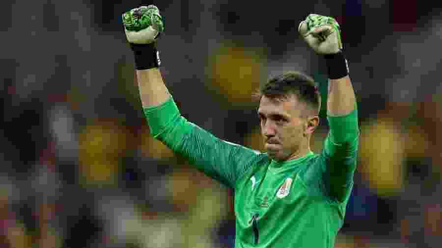 Fernando Muslera, da seleção do Uruguai, quebrará recorde ao entrar em campo - Douglas MAGNO / AFP