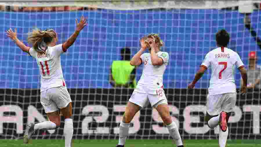 Ellen White marcou o segundo gol da seleção inglesa - Philippe Huguen / AFP