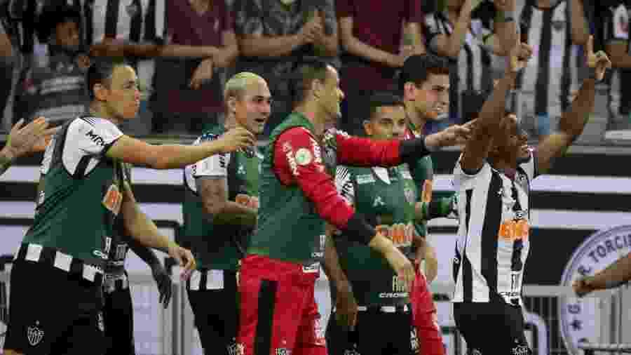 Marquinhos comemora gol do Atlético-MG contra o Goiás - Fernando Moreno/AGIF