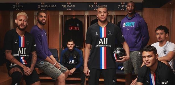 Neymar e Mbappé encontram atletas da NBA em Paris