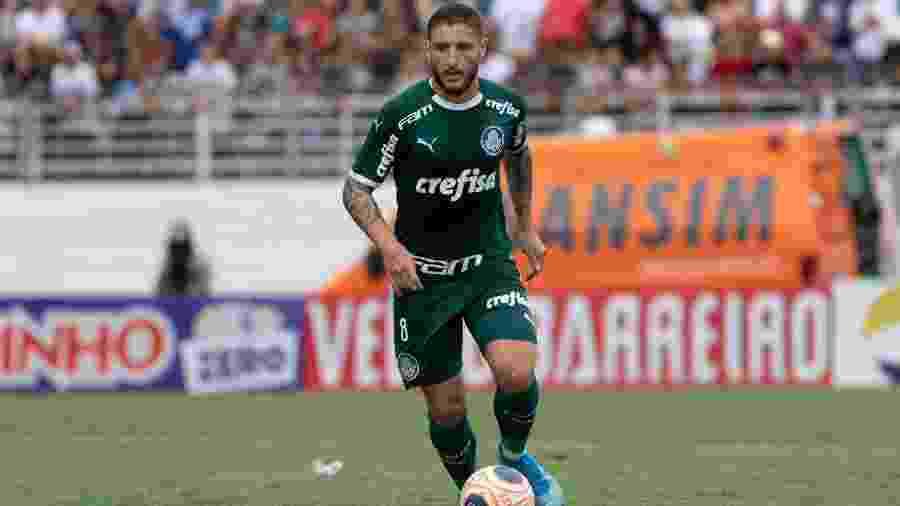 Zé Rafael durante partida do Palmeiras contra o RB Bragantino - Rebeca Reis/AGIF