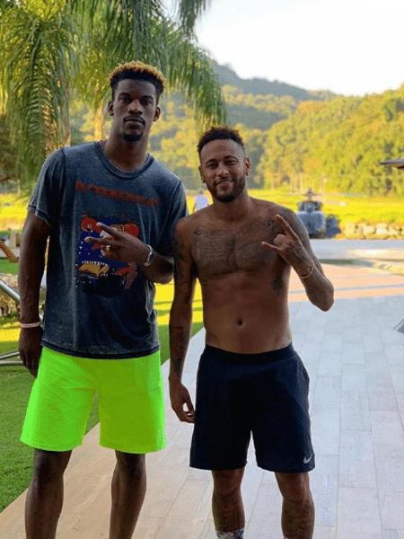 O jogador da NBA Jimmy Butler e Neymar - Reprodução/Instagram