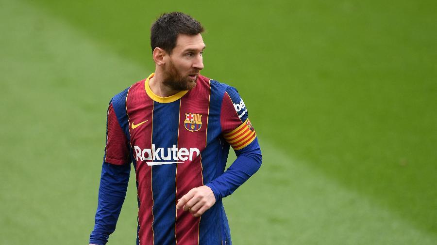Lionel Messi, durante partida entre Barcelona e Cadiz - Josep LAGO / AFP