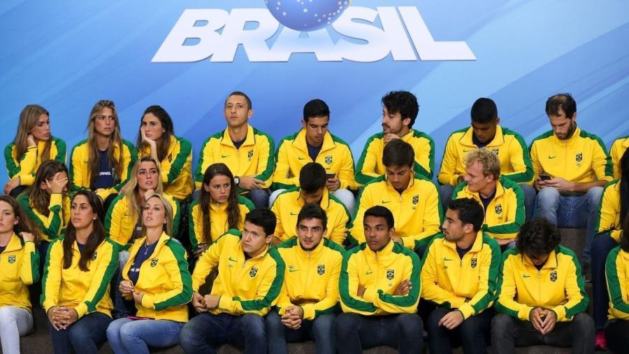 Atletas reunidos no Palácio do Planalto - Marcelo Camargo/Agência Brasil