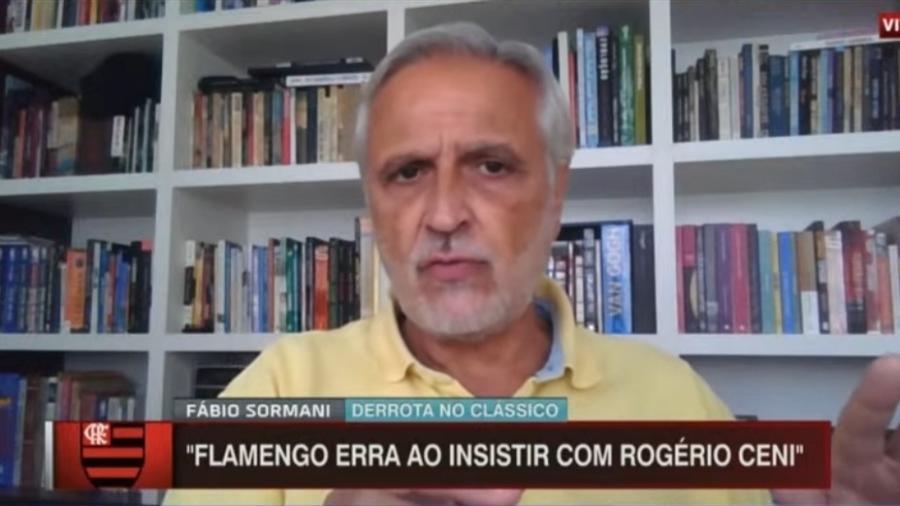 Sormani vê Rogério Ceni como principal adversário do Flamengo - Reprodução/ESPN