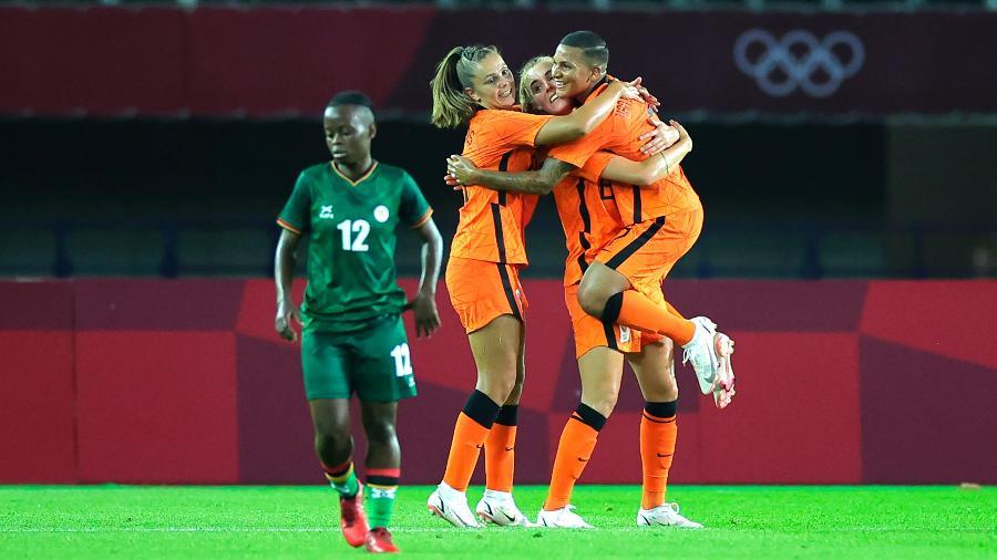 Seleção feminina da Holanda goleou Zâmbia na estreia nos Jogos Olímpicos de Tóquio - Koki Nagahama/Getty Images