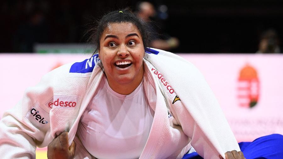 Maria Suelen  Altheman avança às semifinais do judô nas Olimpíadas de Tóquio-2020. - Attila Kisbenedek/AFP