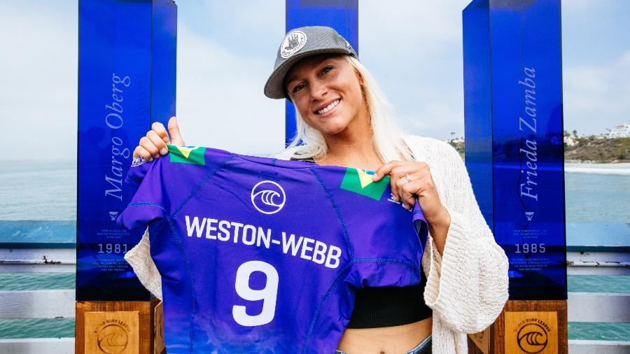 Tatiana Weston-Webb, surfista brasileira, avançou à final feminina do WSL Finals - Divulgação/WSL