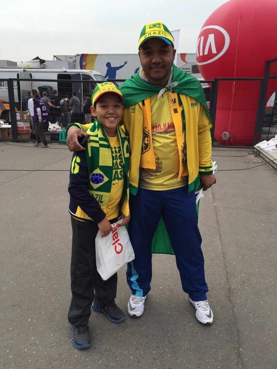 Valmir Pereira, metalúrgico de 39 anos, ganhou dois ingressos da CBF para a partida entre Brasil x Venezuela