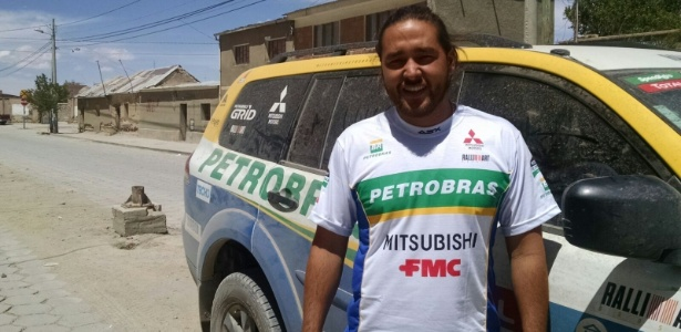 Luiz Heihati Miyajima foi contratado pela Mitsubishi para trabalhar durante o Rally Dakar - Divulgação/Mitsubishi