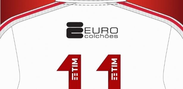 Marca de colchões ficará acima dos números do uniforme do Flamengo