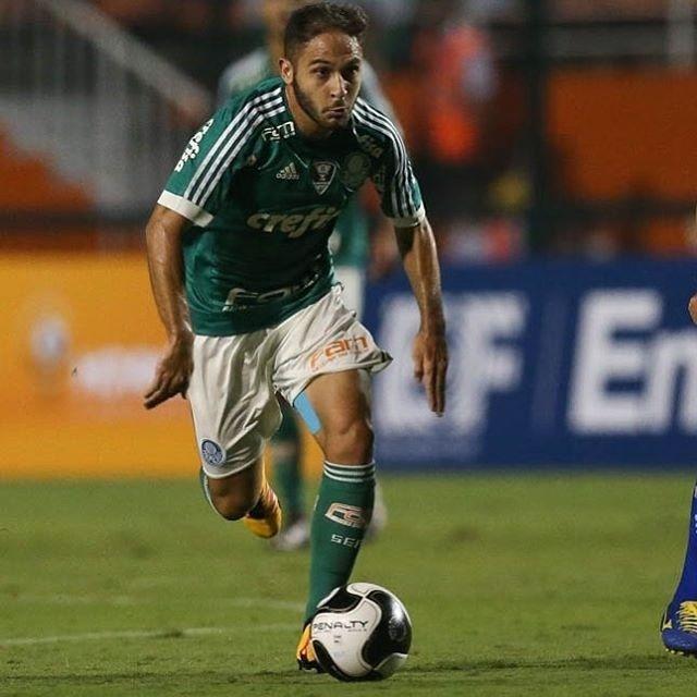 Régis em ação com a camisa do Palmeiras