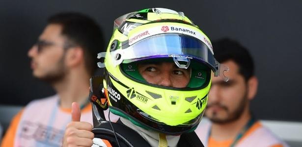 Perez ficou feliz por melhor volta da vida - AFP PHOTO / ANDREJ ISAKOVIC