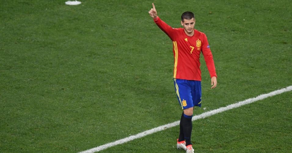 O atacante espanhol Morata