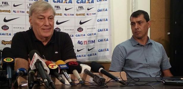 Flávio Adauto, diretor de futebol do Corinthians, oficializa Fábio Carille como treinador