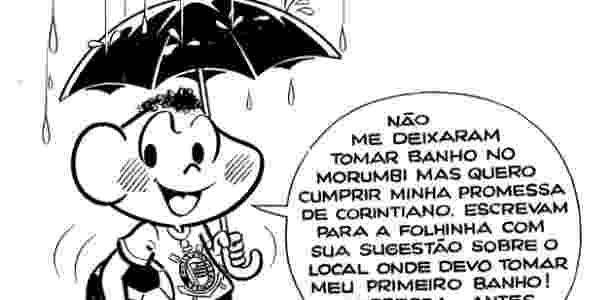 Cascão prometeu tomar banho se o Corinthians quebrasse o jejum em 1977 - Acervo/Maurício de Sousa
