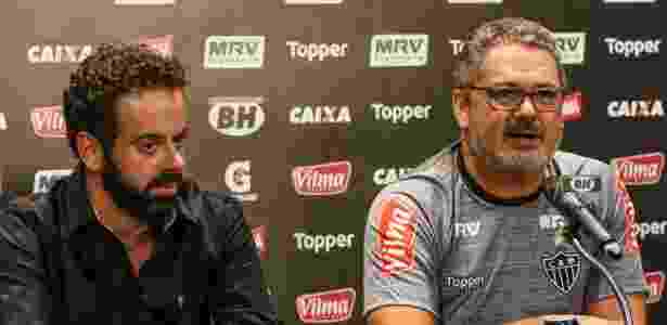Daniel Nepomuceno, presidente do Atlético-MG, e o técnico Rogério Micale - Bruno Cantini/Atlético-MG - Bruno Cantini/Atlético-MG