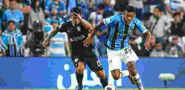 Jailson, volante do Grêmio, na semifinal do Mundial contra o Pachuca-MEX - Lucas Uebel/Grêmio