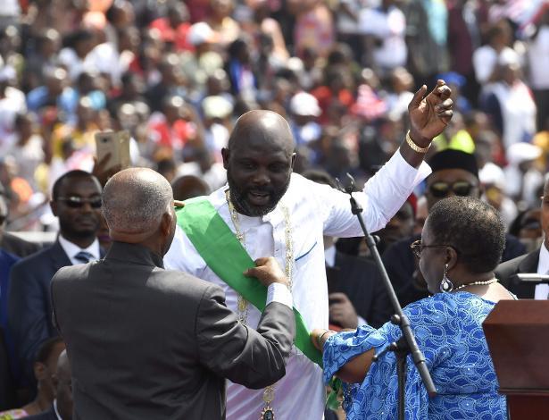 George Weah é empossado como presidente da Libéria
