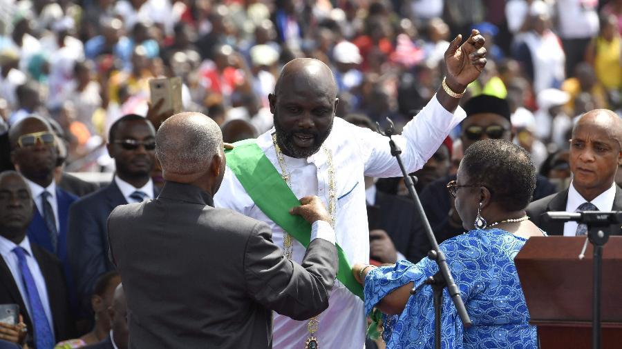 George Weah é empossado como presidente da Libéria - AFP PHOTO / ISSOUF SANOGO