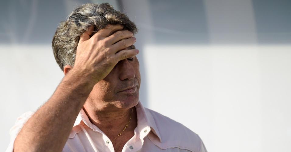 Renato Gaúcho, técnico do Grêmio, durante a partida contra o Vasco