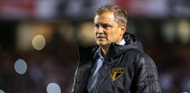 O treinador uruguaio Diego Aguirre manda recado para a torcida do São Paulo - Bruno Riganti/AGIF