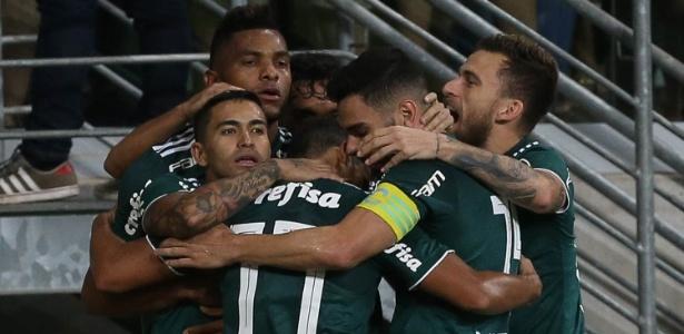 Dudu comemora gol do Palmeiras, que tem rodízio como motivação - Cesar Greco/Ag. Palmeiras/Divulgação