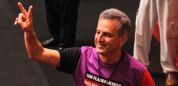 Rodolfo Landim em eleição; presidente espera vitória importante nesta terça-feira - Divulgação
