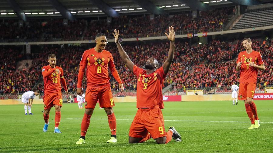 Lukaku, da Bélgica, estará em campo amanhã, em partida contra a Dinamarca pela Liga das Nações - BRUNO FAHY / BELGA / AFP
