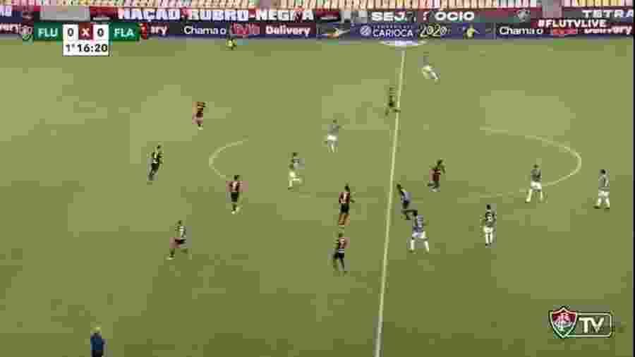 Fluminense transmitiu final da Taça Rio contra o Flamengo na FluTV - Reprodução
