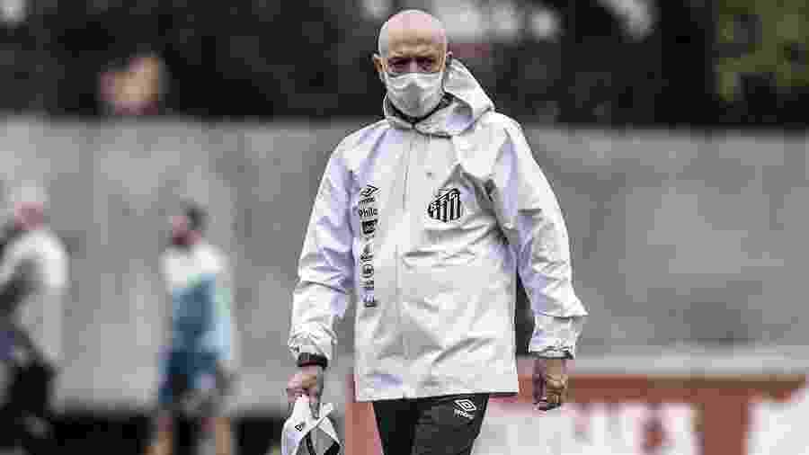 Jesualdo Ferreira comanda treino no CT Rei Pelé - Ivan Storti/Santos FC