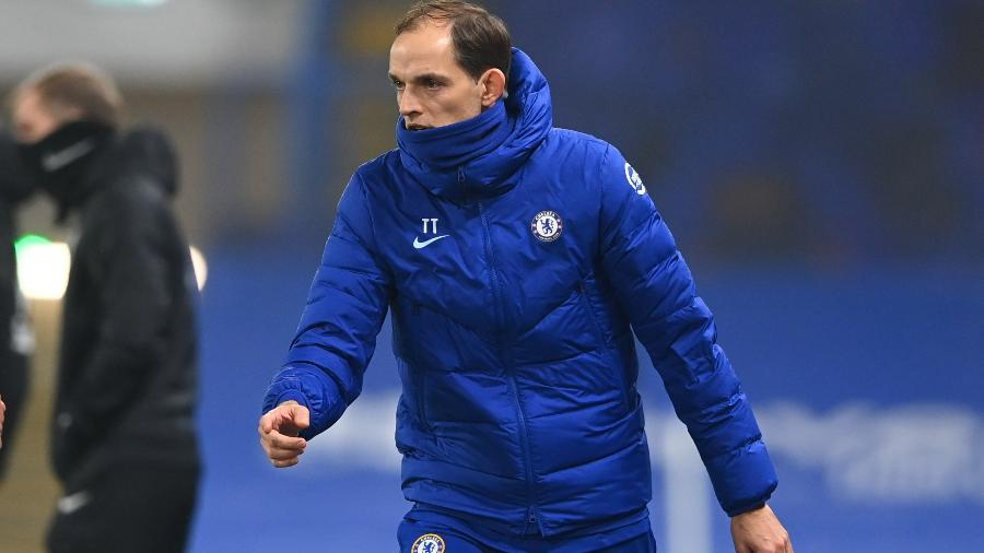 Thomas Tuchel, na estreia no comando do Chelsea - Getty Images
