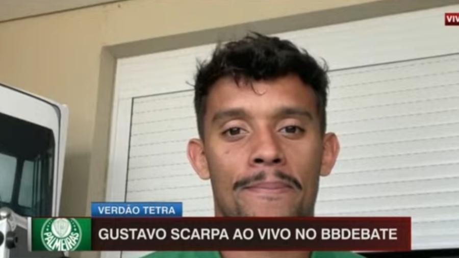 Scarpa corneta música no vestiário do Palmeiras - Reprodução/ESPN