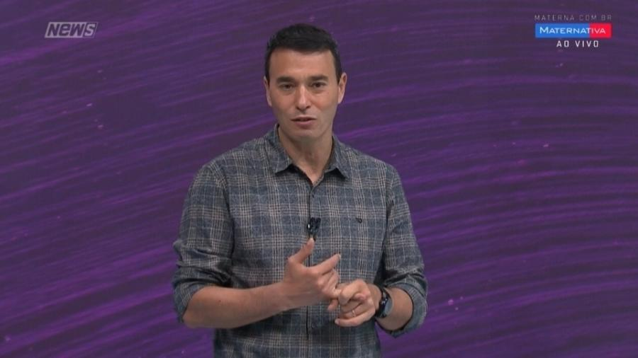 Rizek celebra um mês dos filhos com Sadi e revela presente que ganhou do SporTV - Reprodução/SporTV