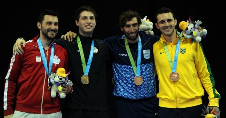 Brasileiro Renzo Agresta ganhou medalha de bronze na esgrima com sabre nos Jogos Pan-Americnaos