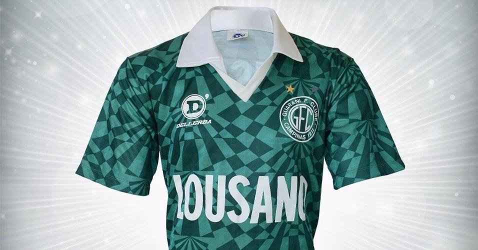 Camisa do Guarani do Paulista de 1992 utilizada por Raudinei
