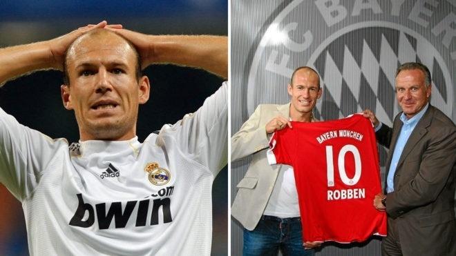 Robben trocou o Real Madrid pelo Bayern em 2009