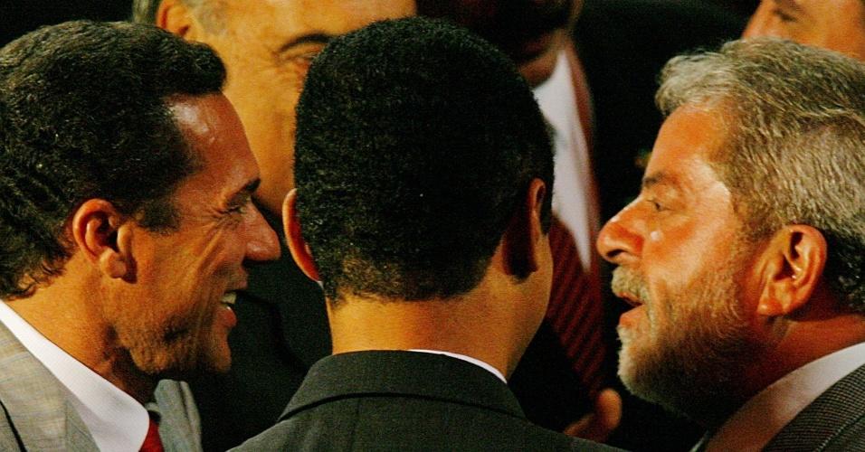 O então presidente Lula conversa com o técnico Vanderlei Luxemburgo em 2006