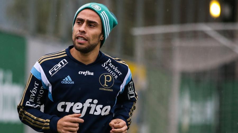 Valdivia treinando no Palmeiras - Leandro Martins/Frame/Frame/Estadão Conteúdo