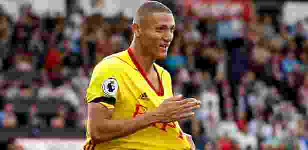 Richarlison festeja gol para o Watford contra o Bournemouth - Matthew Childs/Reuters - Matthew Childs/Reuters